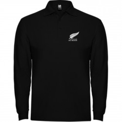 POLO ALL BLACKS MANGA LARGA