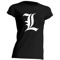 "GIRL T-SHIRT - DEATH NOTE ""L"" - SHORT SLEEVE"