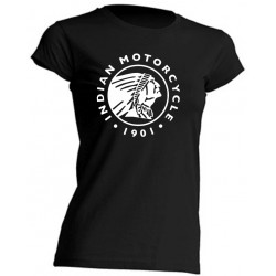 TEE-SHIRT FEMME - INDIAN MOTORCYCLE - MANCHES COURTES