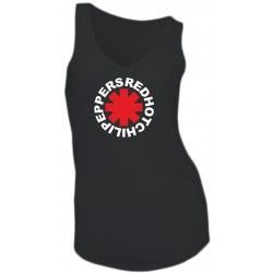 GIRL T-SHIRT - RED HOT CHILI PEPPERS - SLEEVELESS - V-NECK
