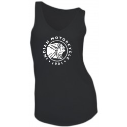 GIRL T-SHIRT - INDIAN MOTORCYCLE - SLEEVELESS - V-NECK