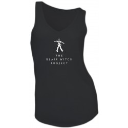 GIRL T-SHIRT - THE BLAIR WITCH PROJECT - SLEEVELESS - V-NECK