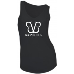 GIRL T-SHIRT - BLACK VEIL BRIDES - SLEEVELESS - V-NECK