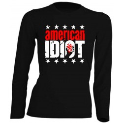 FEMME MANCHES LONGUES - AMERICAN IDIOT