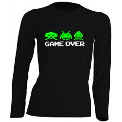 FEMME MANCHES LONGUES - GAME OVER
