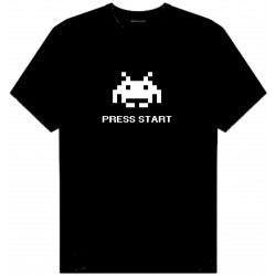PRESS START SPACE INVADERS T-SHIRT