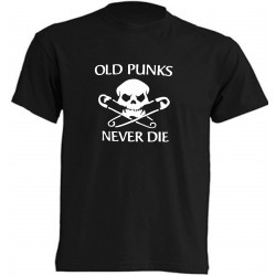 OLD PUNK NEVER DIE T-SHIRT